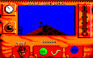 Indiana Jones and The Fate of Atlantis: The Action Game Amstrad CPC Indy takes a dip