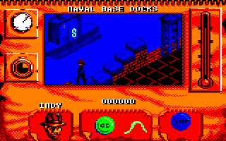 Indiana Jones and The Fate of Atlantis: The Action Game Amstrad CPC There's the submarine
