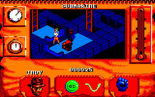 Indiana Jones and The Fate of Atlantis: The Action Game Amstrad CPC Level 4