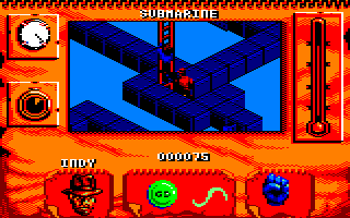 Indiana Jones and The Fate of Atlantis: The Action Game Amstrad CPC Climbing a ladder