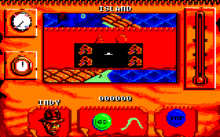 Indiana Jones and The Fate of Atlantis: The Action Game Amstrad CPC Island selector map
