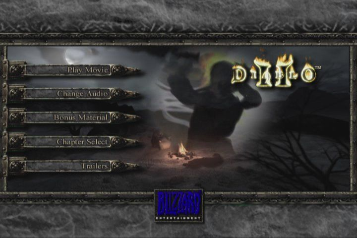 Diablo II (Collector's Edition) Windows Limited Edition DVD - Diablo II main menu
