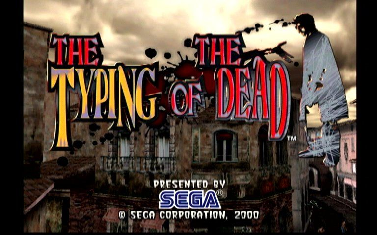 The Typing of the Dead Dreamcast Title Screen
