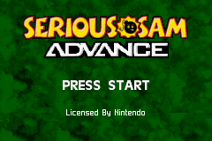 Serious Sam Game Boy Advance Title screen