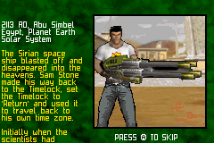 Serious Sam Game Boy Advance A mission briefing