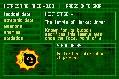 Serious Sam Game Boy Advance You get mission data before each mission.