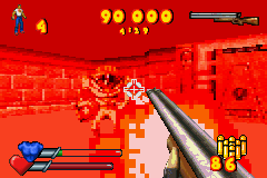 Serious Sam Game Boy Advance Getting hit by a cyclops