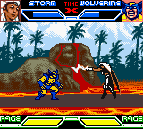 X-Men: Mutant Academy Game Boy Color Lightning attack