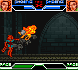 X-Men: Mutant Academy Game Boy Color Phoenix uses her apocalypse move on her doppelganger