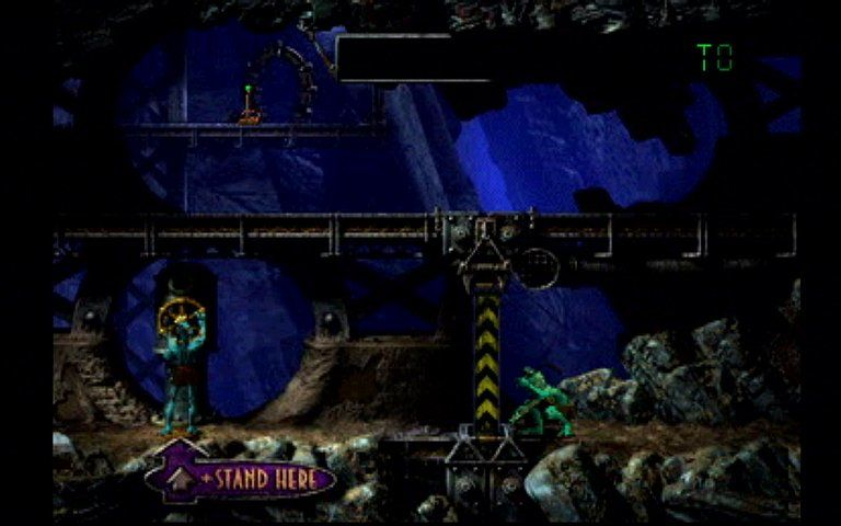 Oddworld: Abe's Exoddus PlayStation Turn valves to open doors