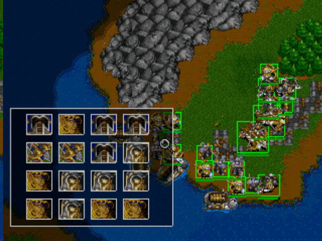 Warcraft II: The Dark Saga PlayStation You can select a lot more