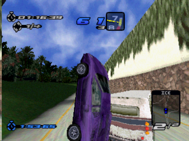 Need for Speed III: Hot Pursuit PlayStation Don't hit the Winnebago.