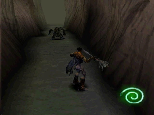 Legacy of Kain: Soul Reaver PlayStation Getting ready to spear a vampire