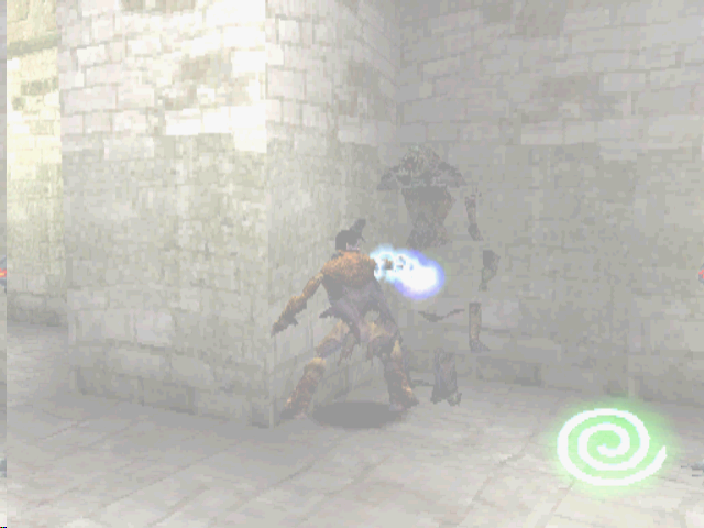 Legacy of Kain: Soul Reaver PlayStation The Soul Reaver can explode enemies.