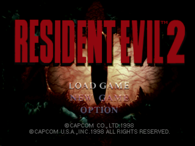Resident Evil 2 PlayStation Title screen