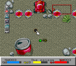 SimAnt: The Electronic Ant Colony SNES Carrying food back to the nest
