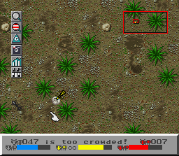 SimAnt: The Electronic Ant Colony SNES Carrying a pebble.  You can use these to build barriers.