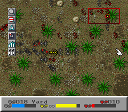 SimAnt: The Electronic Ant Colony SNES Fighting in red territory