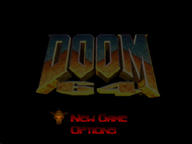DOOM 64 Nintendo 64 Title screen