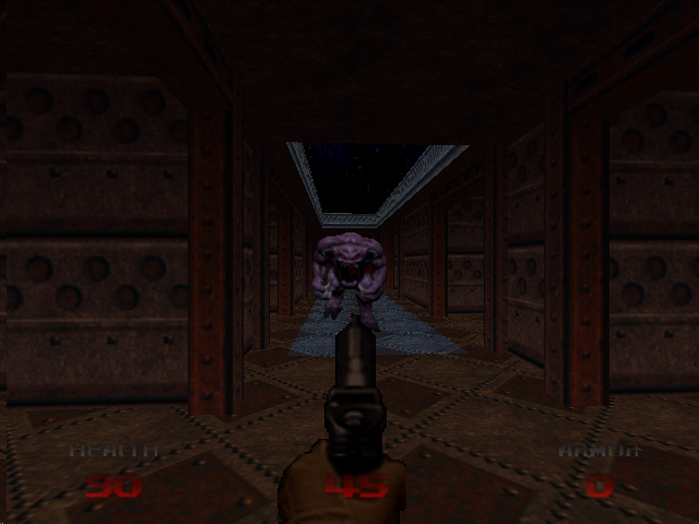 DOOM 64 Nintendo 64 Doom 64 has some cool lighting effects that aren't in other versions of Doom.  Not the blue glow cast on the bull demon.