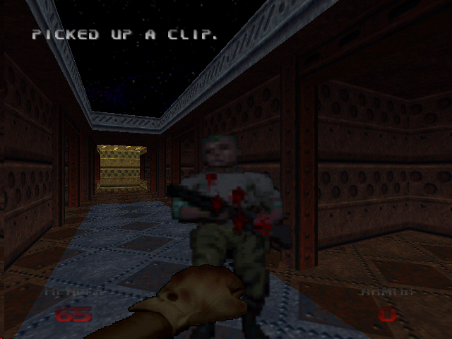 DOOM 64 Nintendo 64 This is not the recommended way to kill zombies.