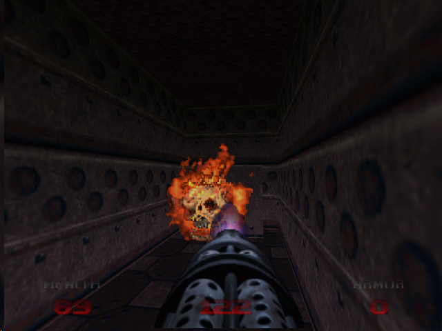 DOOM 64 Nintendo 64 A lost soul is no match for a chaingun.