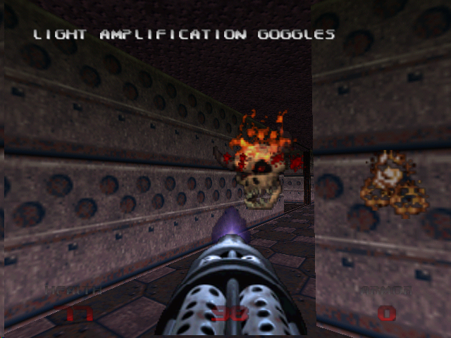 DOOM 64 Nintendo 64 With light amplification, you can actually see where you're going.