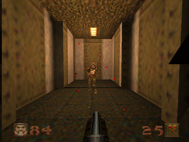 Quake Nintendo 64 Shooting a grunt in The Slipgate Complex