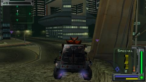 Twisted Metal: Head-On PSP Dark Tooth uses booster