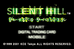 Silent Hill: Play Novel Game Boy Advance Main menu