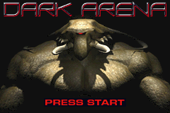 Dark Arena Game Boy Advance Title screen