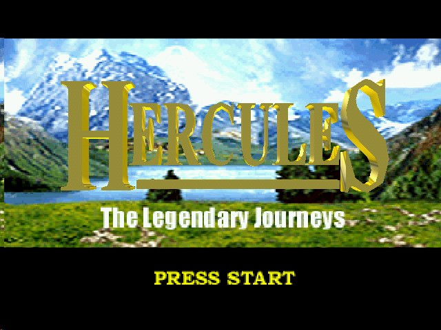 Hercules: The Legendary Journeys Nintendo 64 Title screen