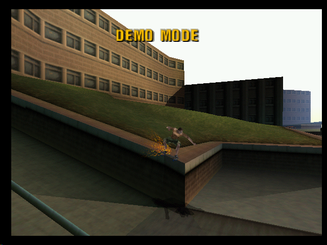 Tony Hawk's Pro Skater Nintendo 64 Geoff Rowley in attract mode