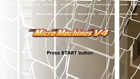 Micro Machines V4 PSP Title screen