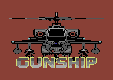 Gunship Commodore 64 Title screen