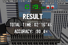 Silent Scope Game Boy Advance At the end of each round, you are rated on time and accuracy.