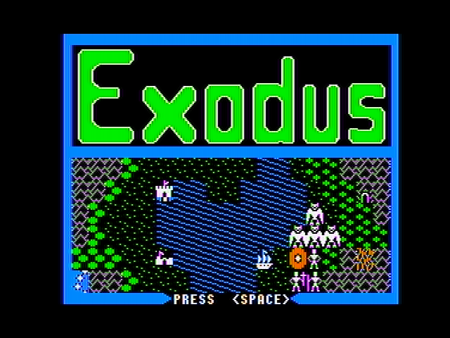 Exodus: Ultima III Apple II Demonstration