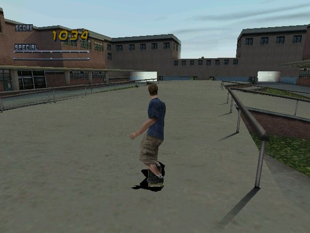 Tony Hawk's Pro Skater 2 Windows In the open (like the School) fogging is very visible