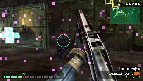 "Coded Arms PSP Purple dots on screen – ""virus"""