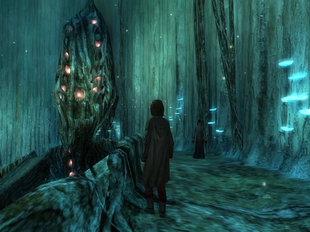 Dreamfall: The Longest Journey Windows April visits the Dark People's Library.
