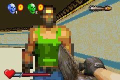 Serious Sam Game Boy Advance Face-to-face in deathmatch
