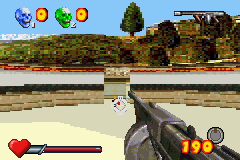 Serious Sam Game Boy Advance I've got my opponent in my sights in multiplayer