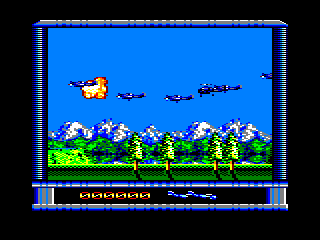 P47 Thunderbolt Amstrad CPC Exploded in mid-air