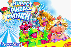 Muppet Pinball Mayhem Game Boy Advance Title Screen