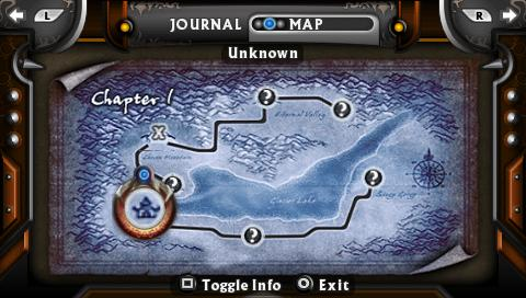 Untold Legends: The Warrior's Code PSP Fast travel map
