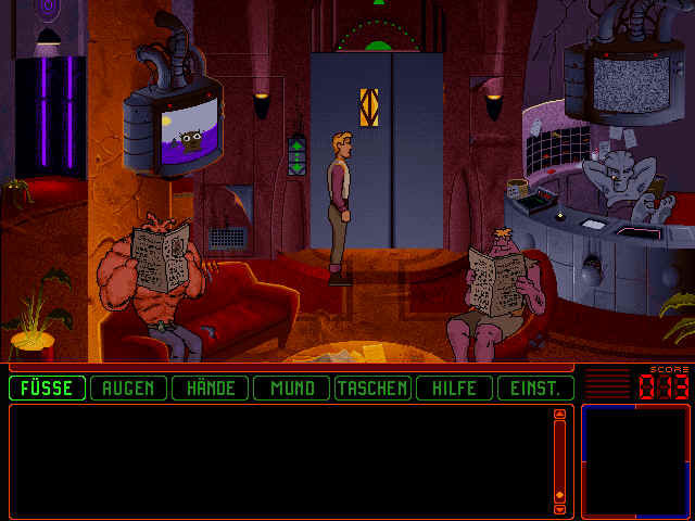Space Quest 6: Roger Wilco in the Spinal Frontier Windows 3.x Hotel lobby