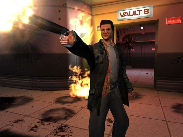 Max Payne Windows You have a dozen weapons. Here: a sawed off shotgun