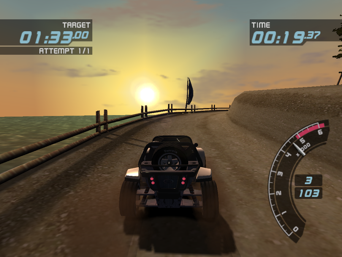 Ford Racing 3 Windows This is the most scenic level in the game.