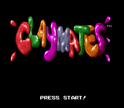 Claymates SNES Title screen.