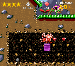 Claymates SNES The magnet power up attracts all nearby gems to you
